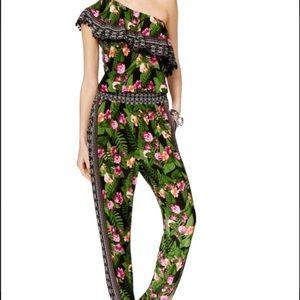INC international Concepts floral jumpsuit